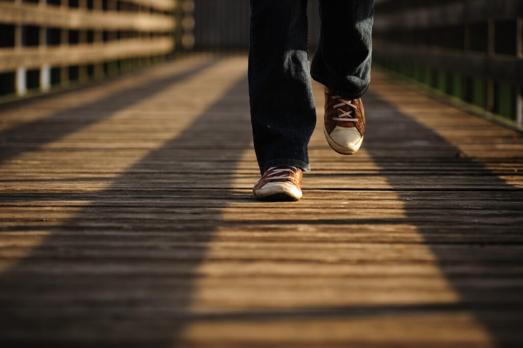 walking feet to get 10000 steps a day